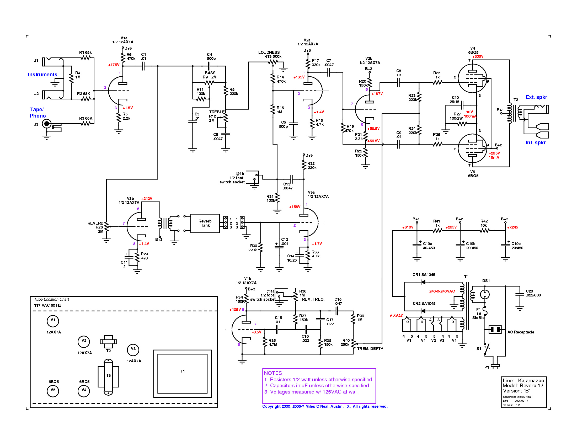 5 Tremolo in addition Hammonator1 likewise 5F6A Modifications besides Pcb Xr2206 Function Generator as well Schematics. on tube reverb schematic